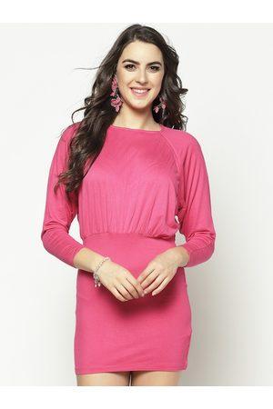 Sera Women Beige Solid Blouson Dress