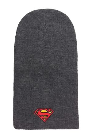 Free Authority Men Grey Superman Embroidered Beanie