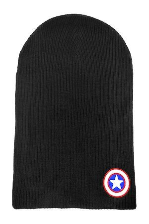 Free Authority Men Navy Blue Captain America Embroidered Beanie