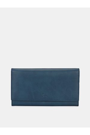 Pacific Women Blue Solid Two Fold Wallet