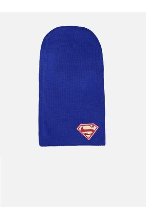 Free Authority Men Blue & Red Solid Superman Beanie