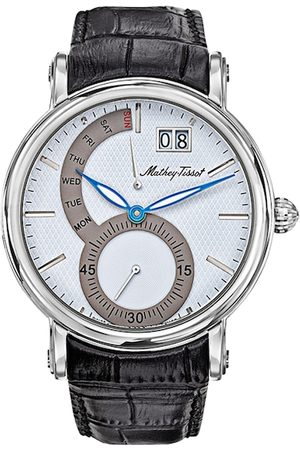 Mathey-Tissot Swiss Made Men Retrograde White Dial Watch H7021AI