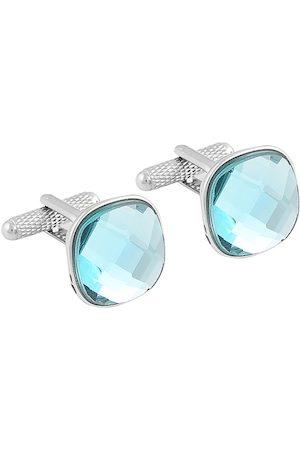 Alvaro Castagnino Alvaro Castgnino Men Turquoise Blue & Silver-Toned Cufflinks