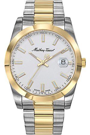 Mathey-Tissot Swiss Made Men Rolly I White Dial Watch H450BI