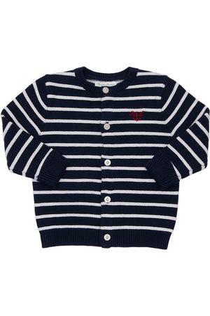 Ralph Lauren Striped Cotton Knit Cardigan