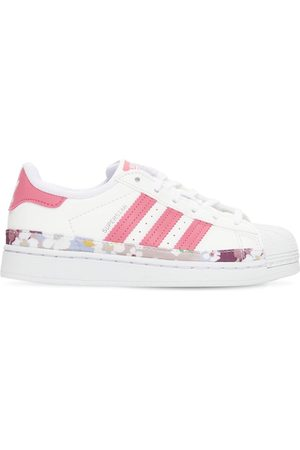 adidas Girls Sneakers - Superstar Leather Sneakers