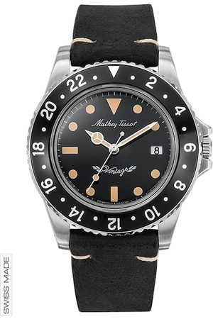 Mathey-Tissot Swiss Made Men Rolly Vintage Black Dial Watch H900ALN