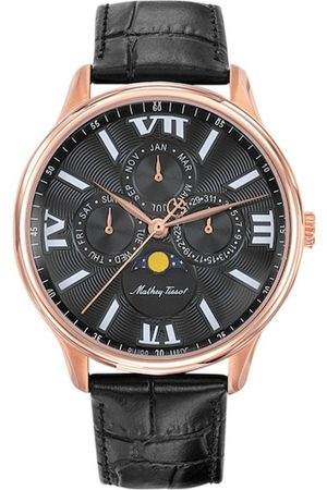 Mathey-Tissot Swiss Made Men Edmond Moon Phase Black Dial Multifunction Watch H1886RPN