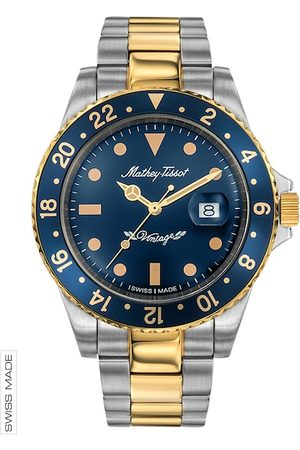 Mathey-Tissot Swiss Made Men Rolly Vintage Blue Dial Watch H901BBU
