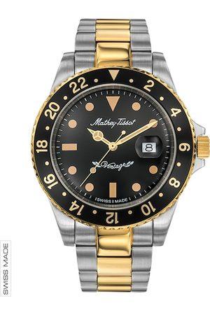 Mathey-Tissot Swiss Made Men Rolly Vintage Black Dial Watch H901BN