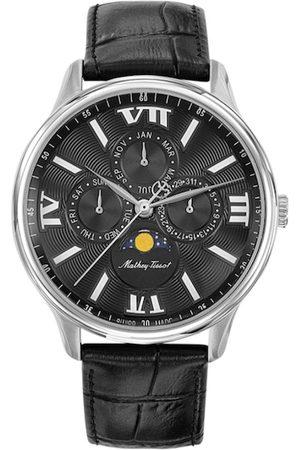 Mathey-Tissot Swiss Made Men Edmond Moon Phase Black Dial Multifunction Watch H1886RAN