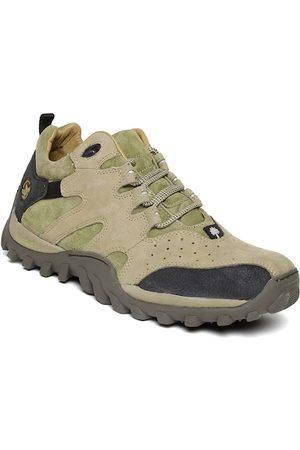 Woodland Men Outdoor Shoes - ProPlanet Men Khaki Leather Outdoor Shoes