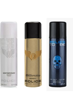 Police Men Men Pack of 3 To Be Man - Millionaire - Contemporary Deodorant Sprays - 200ml each