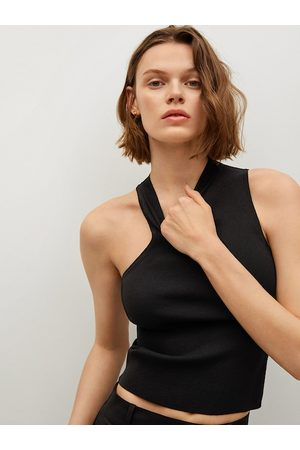 MANGO Women Black Sustainable Fitted Top