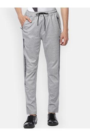 Louis Philippe Men Grey Slim Fit Self Design Regular Trousers