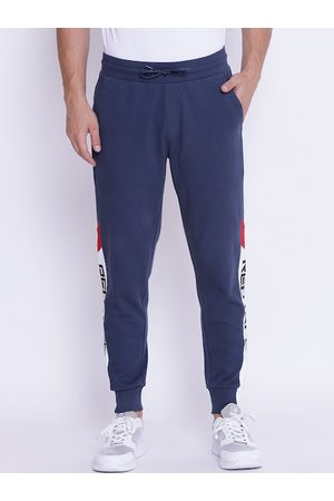 Red Tape Men Navy Blue Solid Joggers