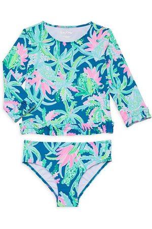 Lilly Pulitzer Girls Sports Tops - Little Girl's & Girl's Margo 2-Piece Rashguard Swim Set