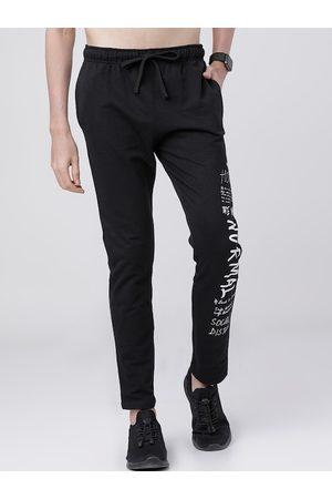 LocoMotive Men Black Solid Slim-Fit Track Pants