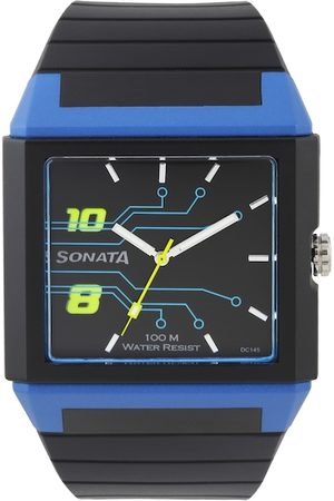 Sonata Men Black Analogue Watch NF7988PP03J