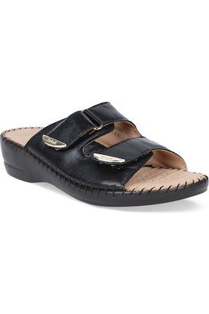 Scholl Women Black Solid Sandals
