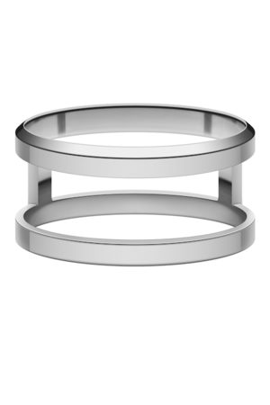 Daniel Wellington Unisex Silver-Plated Elan Dual Finger Ring
