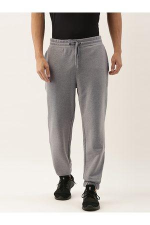 Calvin Klein Men Grey Melange Solid Joggers