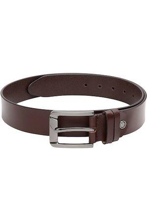 CRUSSET Men Brown Solid Leather Belt