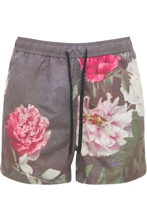 Soulland Men Shorts - William Flower Print Shorts