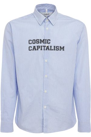 Soulland Men Shirts - Cosmic Capitalism Striped Cotton Shirt