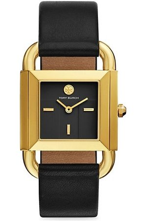 Tory Burch Phipps Goldtone Two-Hand Leather Strap Watch