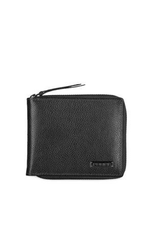 Police Men Black Solid Zip Around Wallet