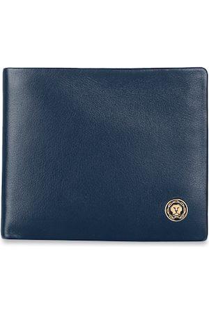 Cross Men Navy Blue Solid Genuine Leather Two Fold Wallet