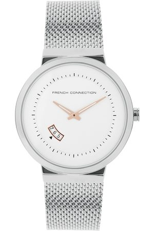 French Connection Men Silver Analogue Watch FC160SM