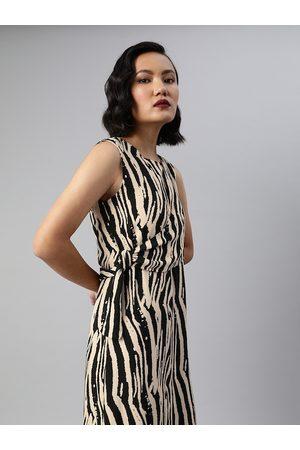 Sera Women White Printed Wrap Dress