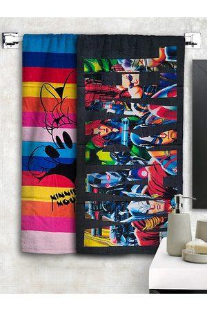 Disney Athom Trendz Set Of 2 & Marvel Printed 300 GSM Bath Towels