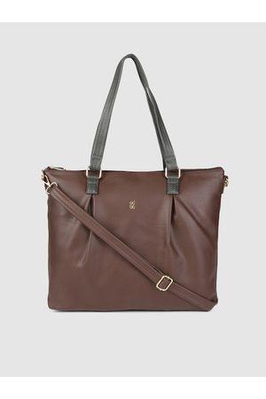 Baggit Women Brown Solid Laptop Bag