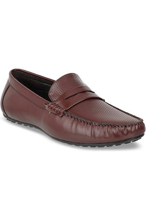 Carlton London Men Brown Solid Loafers