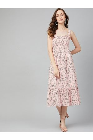 marie claire Women Pink Printed A-Line Dress