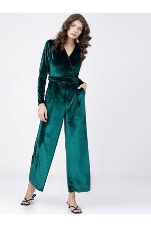 Tokyo Talkies Women Green Solid Jumpsuit