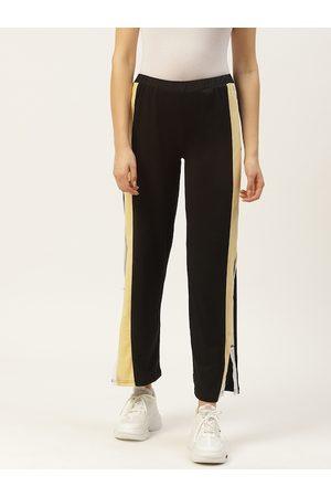 Laabha Women Black Solid Track Pants