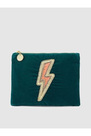 Accessorize Teal Green Embellished Clutch