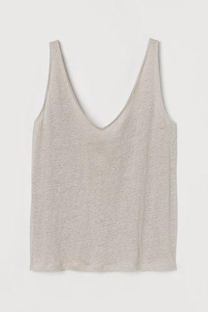 H&M Women Vests - Linen vest top