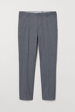 H&M Suit trousers Skinny Fit - Grey