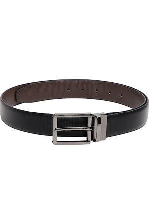 CRUSSET Men Black & Brown Solid Belt
