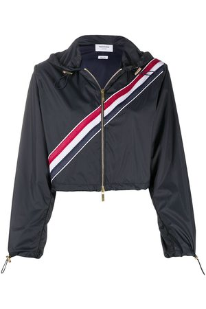 Thom Browne Women Parkas - RWB-stripe short parka