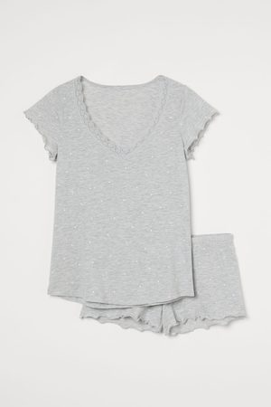 H&M Pyjama T-shirt and shorts - Grey