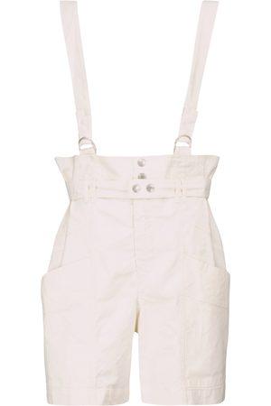 Isabel Marant Women Underwear Accessories - Effie linen and cotton suspender shorts