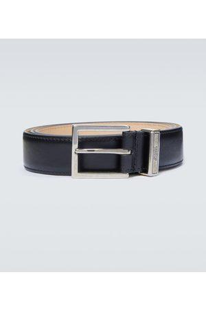 Alexander McQueen Men Belts - Identity leather belt