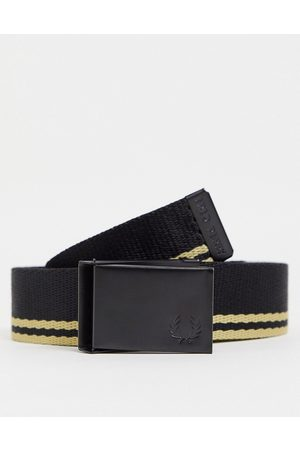 Fred Perry Tipped webbing belt in / gold