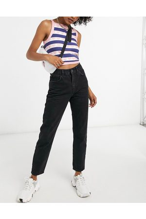 Noisy May Premium Isobel mom jeans with high waist in